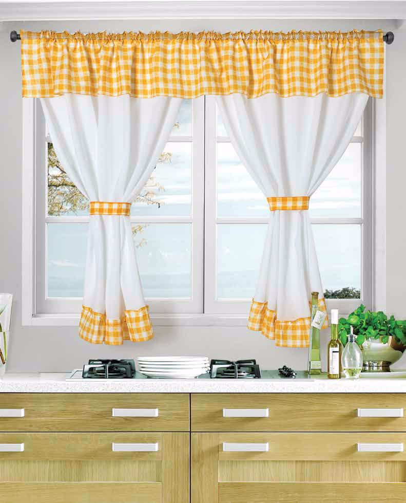 Cortinas para cocina cortinas novaluxe for Color de cortina con pared blanca
